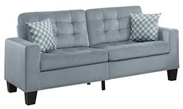 "Homelegance Lantana 72"" Fabric Sofa, Gray - $664.23"