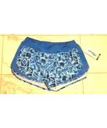 NWT Womens Saucony Impulse Run Dry Running Shorts Blue Large NEW $48 - $15.99