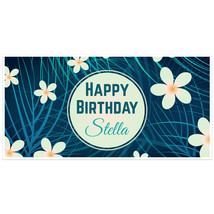 Daisy Birthday Banner Personalized Party Backdrop - $23.64
