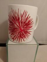 Starbucks Coffee 2014  Red White  Starburst  Ceramic Mug 12oz  - $12.19