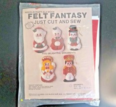 Needlecraft Ala Mode Felt Fantasy Ornament Kit Cut and Sew VTG 1987 USA ... - $16.61
