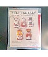 Needlecraft Ala Mode Felt Fantasy Ornament Kit Cut and Sew VTG 1987 USA ... - $16.61
