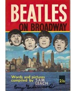 The Beatles On Broadway Photo Magazine Book U.K. Edition 1964 Solid Inte... - $29.94