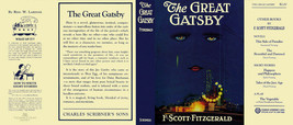 Fitzgerald THE GREAT GATSBY facsimile  jacket for 1st ed/early -NO BOOK ... - $21.56