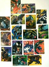 16x Venom Fleer Flair Marvel Card Lot (from 1990s) + Ultra Masterpiece A... - $24.19