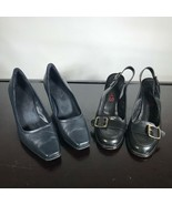 Michael Kors Black Leather & Aerosoles ebony. Both Size 8M. Two Pairs Sh... - $25.74