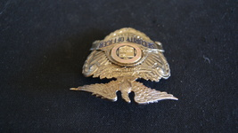 Los Angeles Airport Security officer Hat Badge Vintage 1960's,Hallmark Entenmann image 4