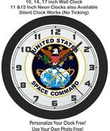 United States Space Command Emblem Wall Clock-Free US Ship, NASA, Air Force - $27.71+