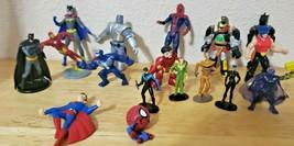 Mixed Lot of 17 Comic Book Superhero Villains  Action Figures Small Asso... - $1.89