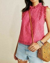 Anthropologie Tilly Eyelet Blouse by Maeve $90 Sz 12  - NWT - $49.99