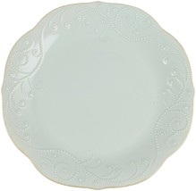 Lenox French Perle Scalloped Dinner Plates  Ice Blue   Set of 4 - $79.20