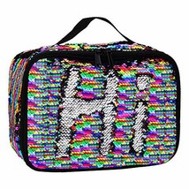 Insulated Mermaid Lunch Box, Reversible Sequin Flip Color Change Fashion Lunch T - $17.70