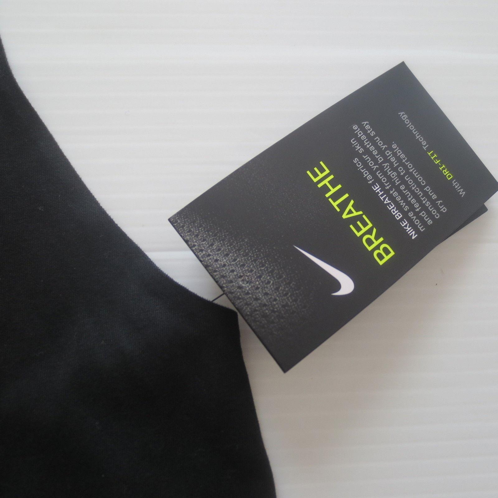 Nike Women Breathe Tank Top Shirt - 862774 - Black 010 - Size L - NWT image 5
