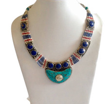 Lapis Turquoise Necklace - $49.99