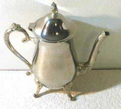 Silverplate Footed Pitcher with Hinged Lid - $33.35