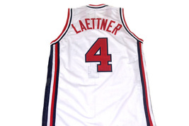Christian Laettner #4 Team USA Basketball Jersey White Any Size image 5