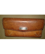 Fossil Leather Wallet Trifold Clutch Brown Leat... - $16.00