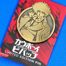 Cowboy Bebop Spike Spiegel Limited Antique Gold Emblem Enamel Pin Figure... - $19.99