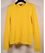 Armani Exchange AX Womens Nylon Sweater Yellow S - $49.50