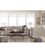 HERMAN - Modern Gray Microfiber Fabric Sofa Couch Set Living Room Furnit... - $1,382.78