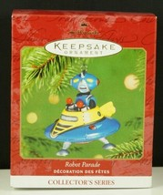 Hallmark Ornament ROBOT PARADE Flying Saucer New in Box 2001 - $11.99
