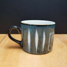 Mikasa Fire Song Flat Cup Blue Green Gray Geometric Design Potters Craft Line - $3.95