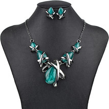 MS1504514 Fashion Brand Jewelry Sets Gunmetal Plated 4Colors Blue Neckla... - $16.67