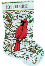 Design Works Cardinal Birds Christmas Holiday Cross Stitch Stocking Kit 5925 - $29.95