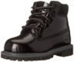 Timberland Toddlers 6 Inch Premium Waterproof Boot Black Shine 3784A - $64.99