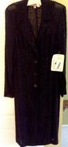 Authentic Vera Wang Black honeycomb lace long sleeve coat Retail Price $3990.00 - $483.74