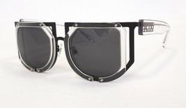 KTZ x LINDA FARROW Women's Sunglasses Clear/Black 51-20-140 MADE IN JAPA... - $175.00