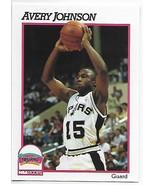1991-92 Hoops #436 Avery Johnson NM-MT Spurs - $0.99