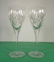 Waterford Crystal TIERNEY White Wine Glass Goblet (s) LOT OF 2 - $123.70