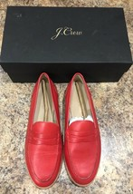 J.Crew Women's  Ryan penny loafers in leather,  VIBRANT FLAME, 6H M, 158... - $77.22