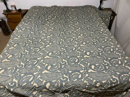 POTTERY BARN Duvet Cover KING SIZE with Pillow Sham Neutral/Blue - $84.15