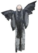 Scary Haunted House Prop Hanging Talking Winged Grim Reaper Eyes Light U... - $39.99