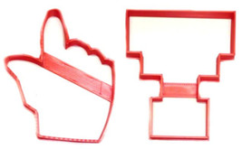Texas Tech Logo Hand Gesture Raiders Sports Set Of 2 Cookie Cutter 3D US... - $2.99