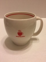 Starbucks White Bulb Coffee Cup/ Mug W/Red Cup Logo  4:T 2004 - $11.29