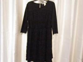NWT American Rag CIE Black Lace Dress 3/4 Sleeve  1X Org $69.50 - $29.44