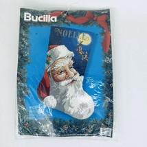 Bucilla Needlepoint Stocking Kit Jolly Old St Nick Santa 1994 Christmas 60723 - $149.99