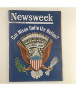 Newsweek Magazine November 18 1968 Richard Nixon To Unite The Nation No ... - $66.50