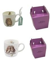 2 x Set Boxed Wrendale Officially Licensed Cute Owls Fine Porcelain Mug - $25.47