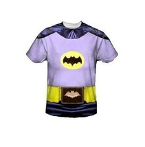 Batman Classico TV Sublimazione Dc Comics Costume 1 Lato Poliestere Maglia S-3Xl - $30.36+