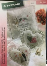 Zweigart Needlework Ideas Booklet Wedding Heart with Alphabet Cross Stit... - $5.65