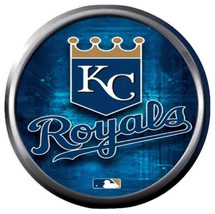 Blue Royals MLB Baseball Kansas City Logo KC 18MM - 20MM Snap Jewelry Charm - $5.95