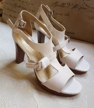 """S 11 M, Sexy Marc Fisher Ankle Strap Cream Color 4"""" Heeled Sandals, new,... - $37.39"""