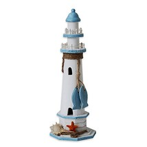"YK Decor Wooden Lighthouse 14.5"" High Nautical Themed Rooms Lighthouse H... - $24.95"