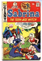 Sabrina The Teenage Witch #9 1972-monster cover-Frankenstein-Witch - $18.62