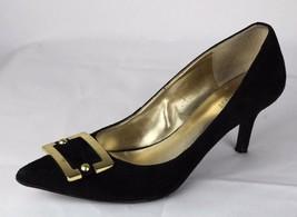 Nine West Amarillo women's classic heels leather golden hardware size 7.5 M - $30.66