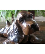 1930s Chalkware Playful English Cocker Spaniel Puppy Figure - $29.10